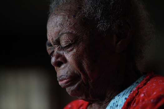 "At 95, Beatrice ""Aunt Bea"" Gee Beaty, was the oldest Pelham resident before her death in April. ""Thank the Lord for being able to get up. Some people are not able to get up,"" Aunt Bea said of her declining health. She died from injuries suffered from an explosion in her trailer. Photo: Lisa Krantz, San Antonio Express-News / © 2012 San Antonio Express-News"