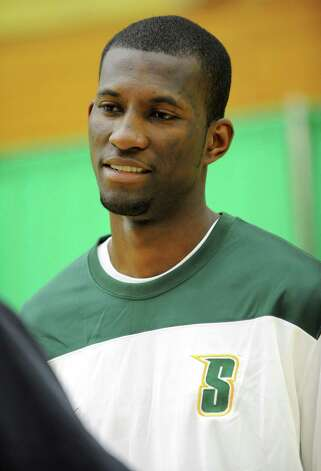 Siena sophomore forward Imoh Silas during media day for the Siena basketball team Friday, Oct. 12, 2012 in Loudonville, N.Y. (Lori Van Buren / Times Union) Photo: Lori Van Buren