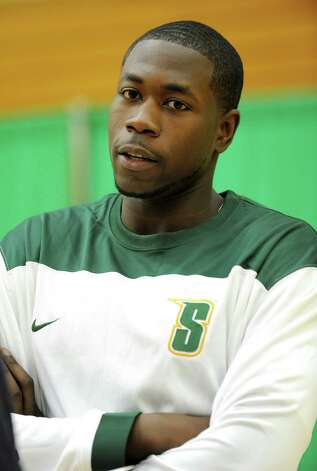 Siena sophomore forward Lionel Gomis during media day for the Siena basketball team Friday, Oct. 12, 2012 in Loudonville, N.Y. (Lori Van Buren / Times Union) Photo: Lori Van Buren