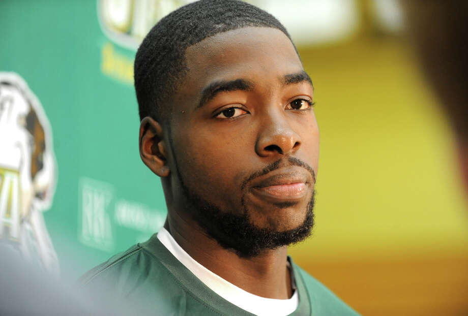 Siena basketball player O.D. Anosike talks to the press during media day for the Siena basketball team Friday, Oct. 12, 2012 in Loudonville, N.Y.  (Lori Van Buren / Times Union) Photo: Lori Van Buren
