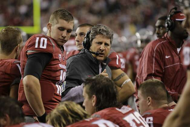 Mike Leach's Washington State rebuilding process is just under way. An early highlight: sacking quarterbacks. Photo: Ted S. Warren, Associated Press