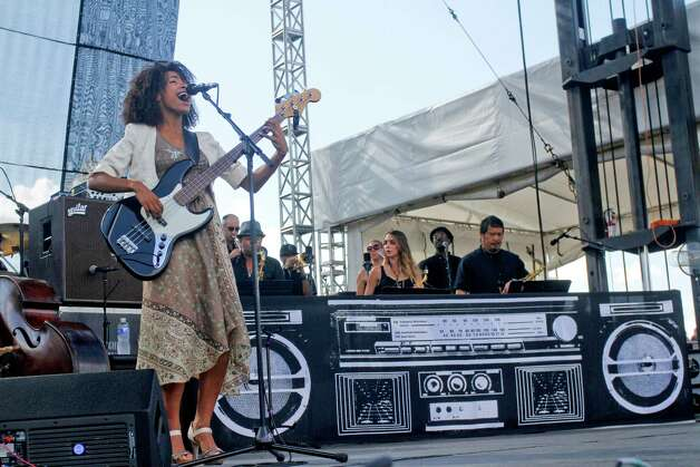 Esperanza Spalding performs at Austin City Limits Music Festival on Friday, Oct. 12 2012 in Austin, Texas. Photo: Jack Plunkett, Associated Press / Invision