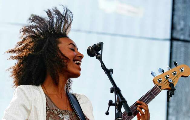 Esperanza Spalding performs at Austin City Limits Music Festival on Friday, Oct. 12 2012 in Austin, Texas. (Photo by Jack Plunkett/Invision/AP) Photo: Jack Plunkett, Associated Press / Invision