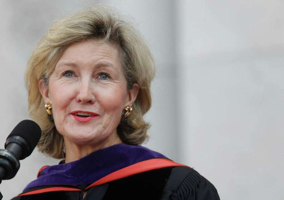 U.S. Sen. Kay Bailey Hutchison delivers speech in the Academy Quad during Rice University's centennial program on Friday, Oct. 12, 2012, in Houston. Photo: Mayra Beltran, Houston Chronicle / © 2012 Houston Chronicle