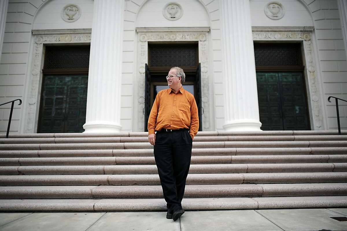 Founder Brewster Kahle poses for a portrait outside the Internet Archive offices which are housed in a former Fourth Church of Christ, Scientist church in San Francisco Friday September 28th, 2012.