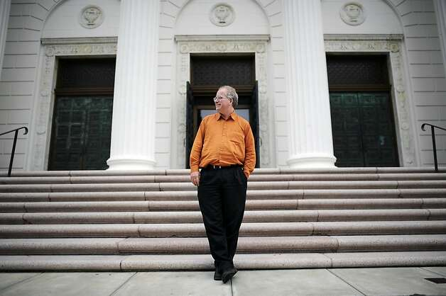 Brewster Kahle operates the Internet Archive in a former Christian Science church in San Francisco's Richmond District. Photo: Michael Short, Special To The Chronicle