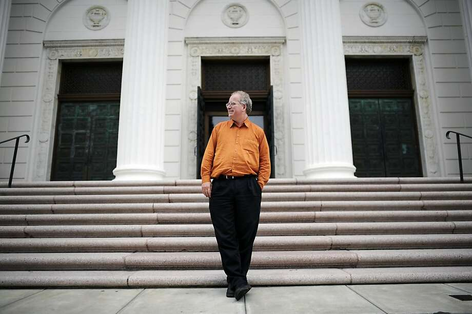 Founder Brewster Kahle poses for a portrait outside the Internet Archive offices which are housed in a former Fourth Church of Christ, Scientist church in San Francisco Friday September 28th, 2012. Photo: Michael Short, Special To The Chronicle