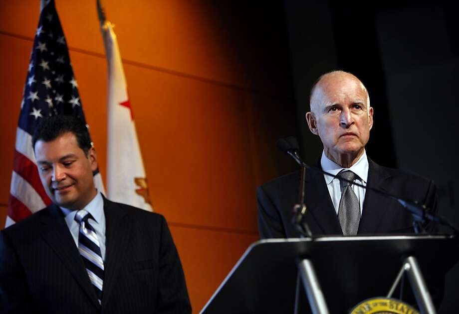 Gov. Jerry Brown's Prop. 30 would temporarily raise taxes on upper incomes and the state sales tax. Photo: Sarah Rice, Special To The Chronicle