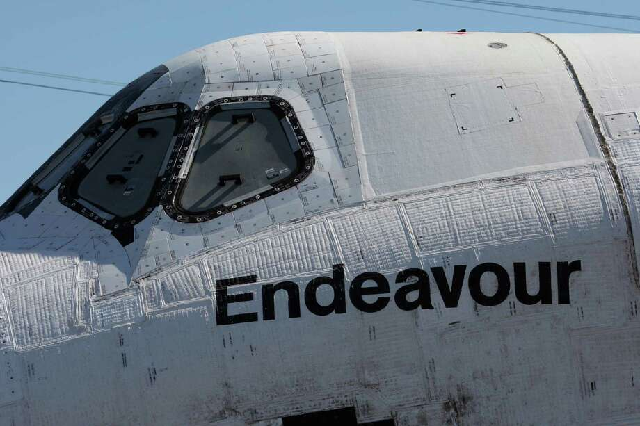 The space shuttle Endeavour is transported to the California Science Center in Exposition Park from Los Angeles International Airport (LAX) on October 12, 2012 in Los Angeles, California. Photo: David McNew, Getty Images / 2012 Getty Images