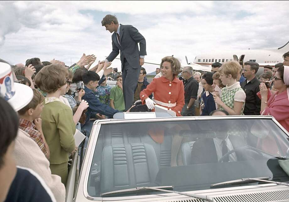 Ethel Kennedy campaigns with her husband ahead of the Oregon primary. The HBO documentary shows how she carried on after his assassination. Photo: Clyde Keller, HBO