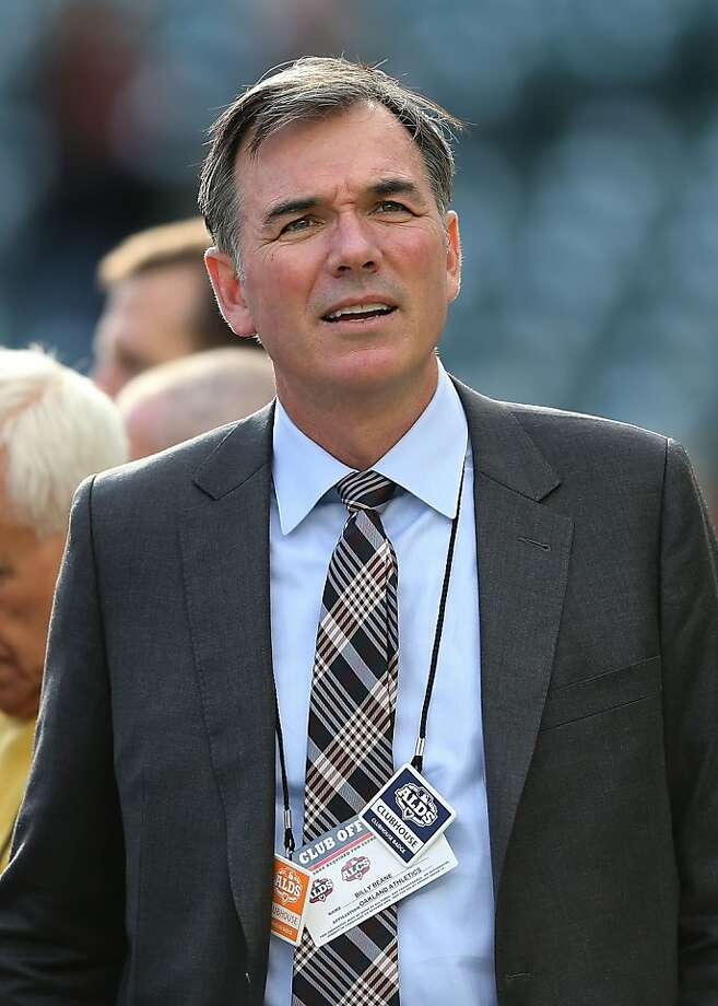 DETROIT, MI - OCTOBER 06:  General manager Billy Beane of the Oakland Athletics watches batting practice prior to Game One of the American League Division Series against the Detroit Tigers at Comerica Park on October 6, 2012 in Detroit, Michigan.  (Photo by Leon Halip/Getty Images) Photo: Leon Halip, Getty Images