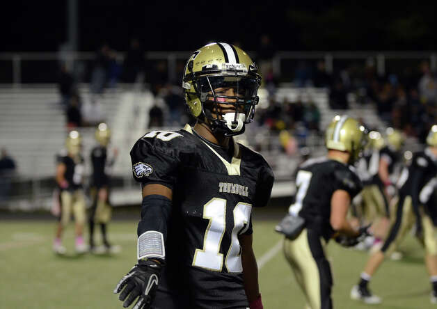 Trumbull's Mike Williams (10) on the field during the football game against Darien at Trumbull High School on Friday, Oct. 12, 2012. Photo: Amy Mortensen / Connecticut Post Freelance