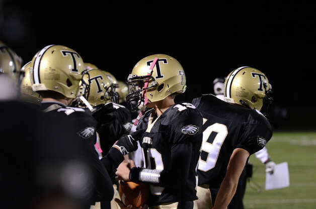 Trumbull hosts Darien during the football game at Trumbull High School on Friday, Oct. 12, 2012. Photo: Amy Mortensen / Connecticut Post Freelance