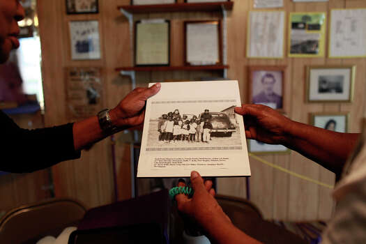 Historic photographs are plentiful in the Pelham Community History Museum, now housed in the Pelham School built in 1890. The museum was official dedicated and opened in October of 2002. Photo: Lisa Krantz, San Antonio Express-News / © 2012 San Antonio Express-News