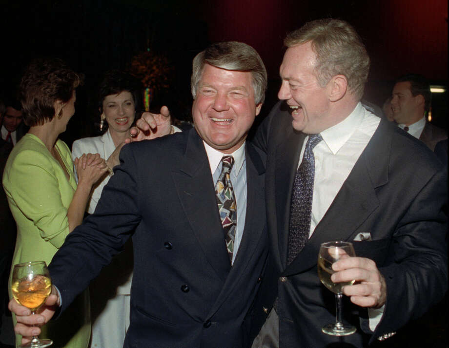 Hate:He ran off coach Jimmy Johnson, whose brilliant personnel decisions helped the Cowboys win three Super Bowls in the 1990s.   Ron Heflin/Associated Press Photo: RON HEFLIN, Associated Press / FILES