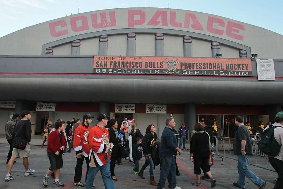 Hockey fans arrive at the Cow Palace before a Bulls hockey game in Daly City, Calif., on Friday, Oct. 12, 2012. Photo: Mathew Sumner, Special To The Chronicle
