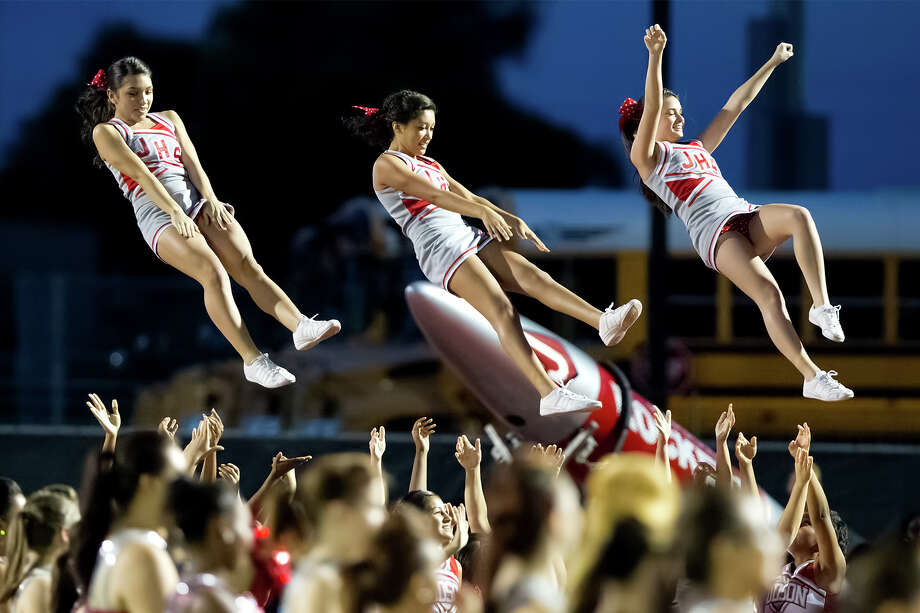 Judson cheerleaders perform prior to their game with Wagner at Rutledge Stadium on Oct. 12, 2012.  MARVIN PFEIFFER/ mpfeiffer@express-news.net Photo: MARVIN PFEIFFER, Express-News / Express-News 2012