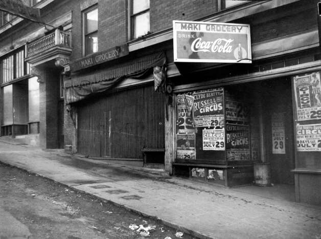 Blocks of Japanese businesses were boarded up in Seattle in 1942, after the government forced Japanese Americans into internment camps under Executive Order 9066.  Photo: MOHAI/seattlepi.com File,  -
