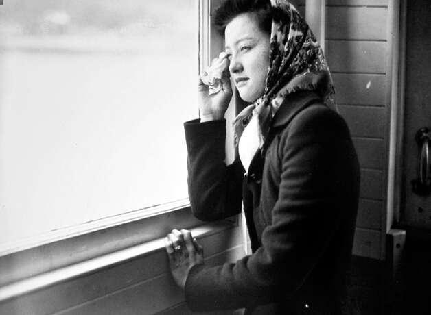 Internment of Japanese Americans from Seattle and Bainbridge Island, 1942. Photo: MOHAI/seattlepi.com File,  -