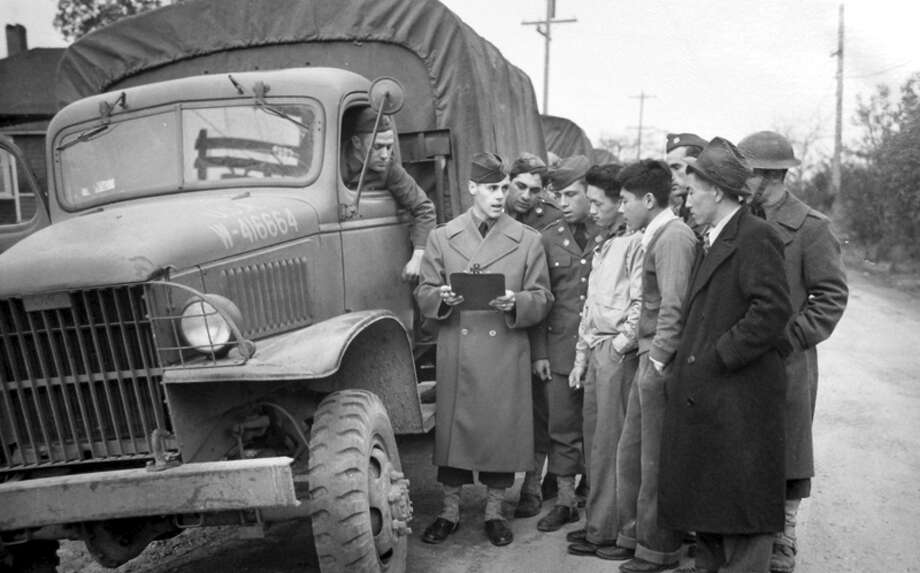 This picture was taken in 1942 after Japanese Americans were taken to internment camps, as ordered in February of that year by President Franklin Roosevelt. The following month a P-I photographer followed 225 people were left Bainbridge Island for internment camps. A few of these images have never been published, and since 1976 the P-I negatives have been carefully preserved at the Museum of History and Industry. Photo: MOHAI/seattlepi.com File,  -
