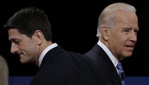 The Paul Ryan-Joe Biden VP debate was critiqued by some savvy Oakland high school journalists. Photo: Charlie Neibergall, Associated Press