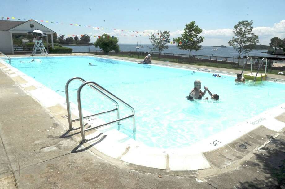 The Byram Park pool on June 27, 2011. Photo: Helen Neafsey, ST / Greenwich Time