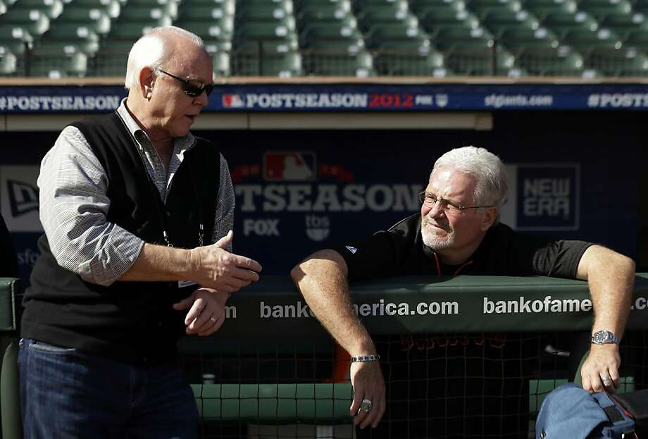 Brian Sabean's Giants have a shot at a second title in three seasons. Photo: Marcio Jose Sanchez, Associated Press