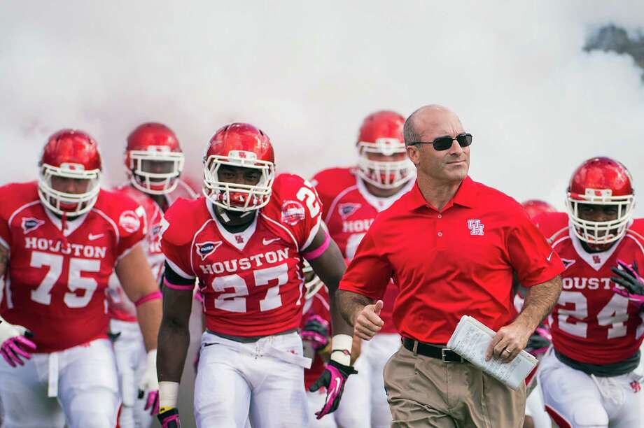 UH head coach Tony Levine will lead his team back onto the field on Thursday night. Photo: Smiley N. Pool, Houston Chronicle / © 2012  Houston Chronicle