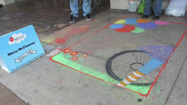 The work of Marcy McChseney, a featured artist at Chalk It Up 2012. Photo: Benjamin Olivo/mySA.com