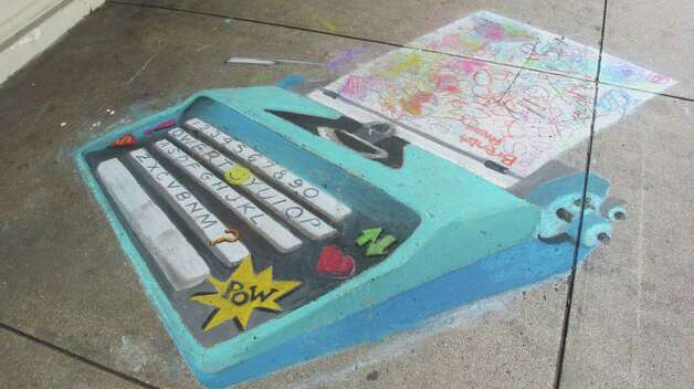 The work of Giovanna Carrola, a featured artist at Chalk It Up 2012. Photo: Benjamin Olivo/mySA.com