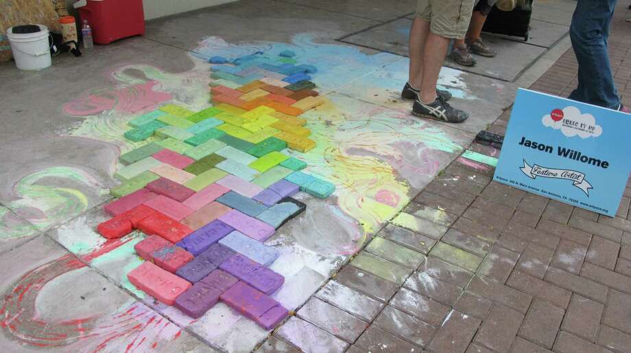 The work of Jason Willome, a featured artist at Chalk It Up 2012. Photo: Benjamin Olivo/mySA.com