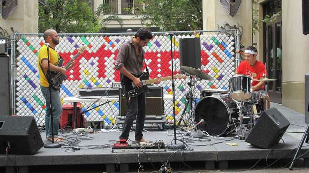Pop Pistol performs at Chalk It Up on Saturday. Photo: Benjamin Olivo/mySA.com