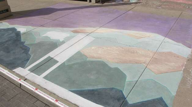 The work of Sara Frantz at Chalk It Up on Saturday. Photo: Benjamin Olivo/mySA.com