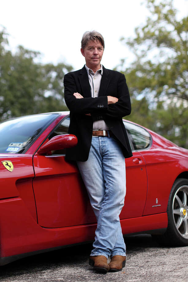 Hilmar Blumberg  of Seguin leans on  his Ferrari. Although Mitt Romney isn't Blumberg's dream candidate,  he has donated the maximum $5,000 to the Republican's presidential race. Photo: Lisa Krantz, San Antonio Express-News / © 2012 San Antonio Express-News