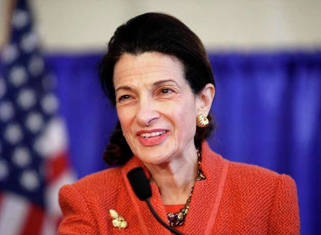 "FILE- In this March 2, 2012, file photo U.S. Sen. Olympia Snowe speaks at news conference in South Portland, Maine. Snowe, who has cited Washington's partisan atmosphere as the reason she is stepping down this year, has a deal with Weinstein Books for a publication due out in the spring. Weinstein is billing the book, currently untitled, as a ""memoir and call to action."" (AP Photo/Robert F. Bukaty, files) Photo: Robert F. Bukaty, Associated Press / AP"