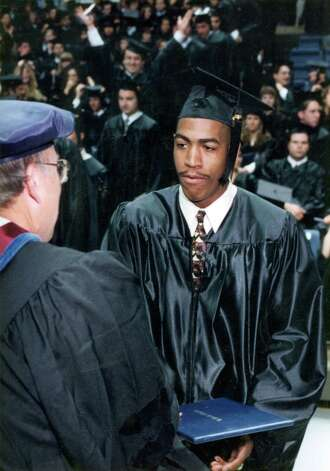 Kevin Ollie graduating from the University of Connecticut. Photo: Contributed Photo