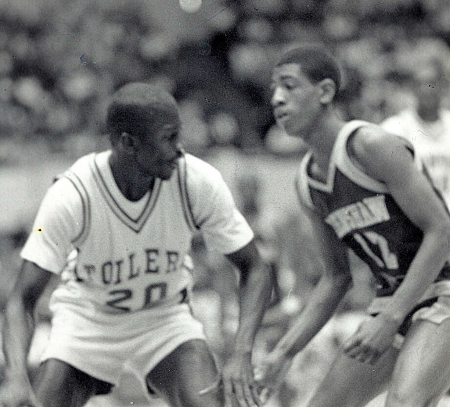 Kevin Ollie playing basketball in high school. Photo: Contributed Photo