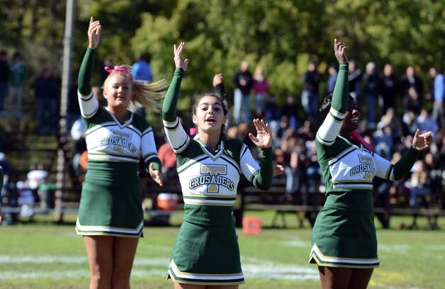 Trinity hosts Stamford during the football game at Trinity Catholic High School in Stamford on Saturday, Oct. 13, 2012. Photo: Amy Mortensen / Connecticut Post Freelance