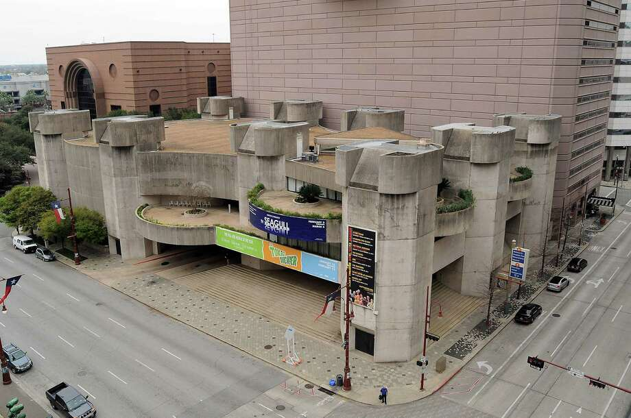 Houston's Alley Theater building was Ulrich Franzen's first major solo architectural project. The Brutalist style of the building, which opened in 1968, was criticized by some. Photo: Dave Rossman / © 2012 Dave Rossman