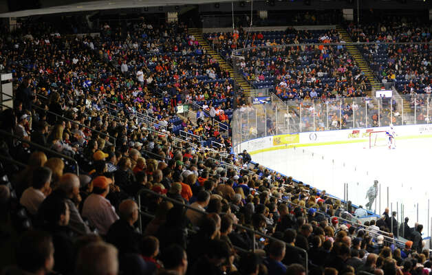 Sound Tigers home opener hockey action against Providence at the Webster Bank Arena in Bridgeport, Conn. on Friday October 13, 2012. Photo: Christian Abraham / Connecticut Post