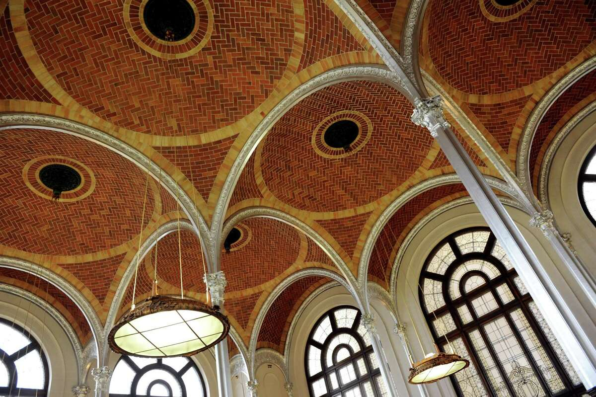 The ceiling of the former State Library on Wednesday, Oct. 10, 2012, at the State Education Building in Albany, N.Y. (Cindy Schultz / Times Union)