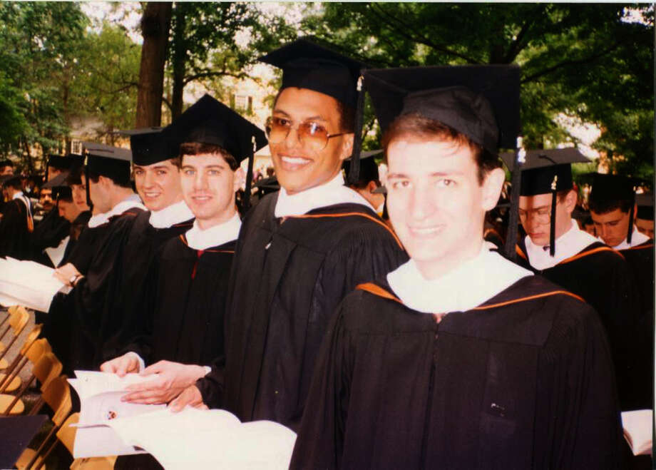 Ted Cruz, right, at his Princeton graduation in May 1992. Cruz was there when his parents' business failed. He worked his way through Princeton and Harvard. Photo: Family Photo / family photo
