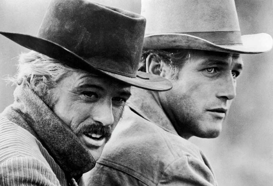 Robert Redford (left) and Paul Newman in a still from the film, 'Butch Cassidy and the Sundance Kid,' directed by George Roy Hill, 1969. (Photo by 20th Century Fox/Archive Photos/Getty Images) Photo: 20th Century Fox / Hulton Archive