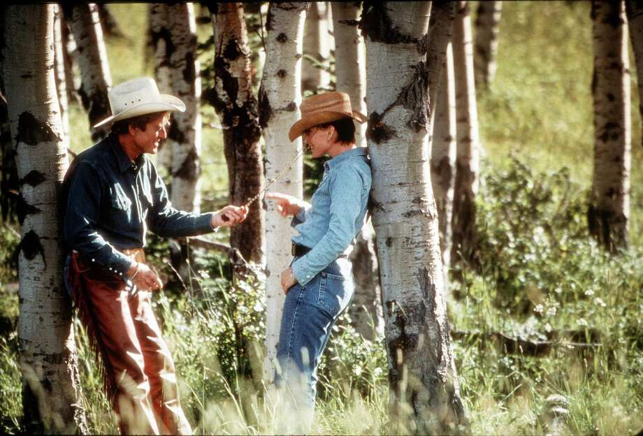 """The Horse Whisperer"" (1998): Robert Redford and Kristin Scott Thomas. Credit: Elliott Marks Photo: Elliott Marks / handout slide"