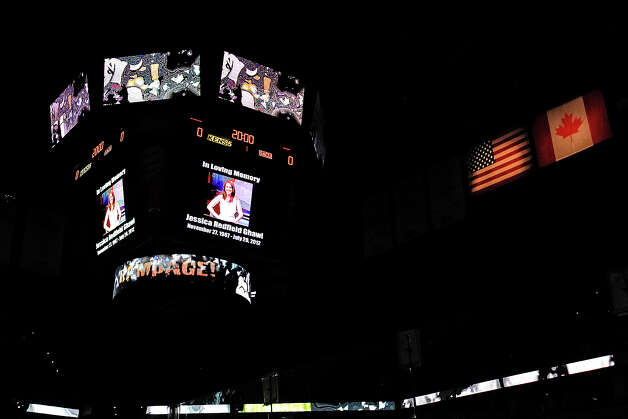 The San Antonio Rampage honored Jessica Redfield Ghawi during their AHL season opener with the Texas Stars at the AT&T Center on Oct. 13, 2012.  MARVIN PFEIFFER/ mpfeiffer@express-news.net Photo: MARVIN PFEIFFER, Express-News / Express-News 2012