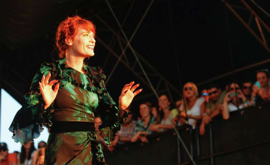 Florence + the Machine perform at Austin City Limits Music Festival, Friday, Oct. 12, 2012, in Austin, Texas.(Photo by Jack Plunkett/Invision/AP) Photo: Jack Plunkett, Associated Press / Invision