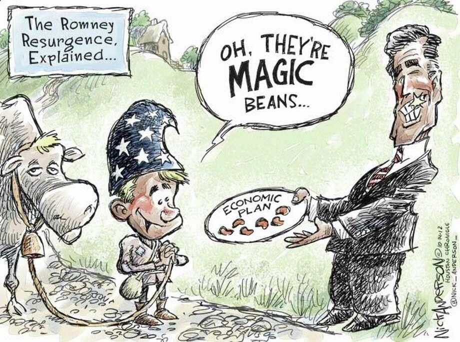 Resurgent Romney (Nick Anderson / Houston Chronicle)