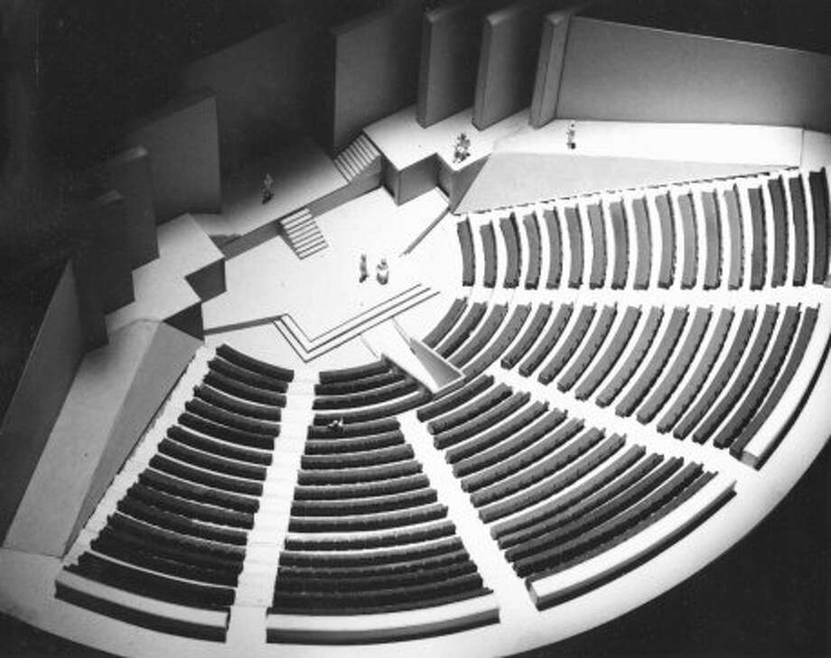 Model of Alley Theatre main stage, Aug. 3, 1965. (Ulrich Franzen & Associates)