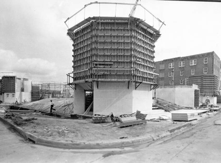 Alley Theatre construction, May 15, 1967. (Houston Chronicle)