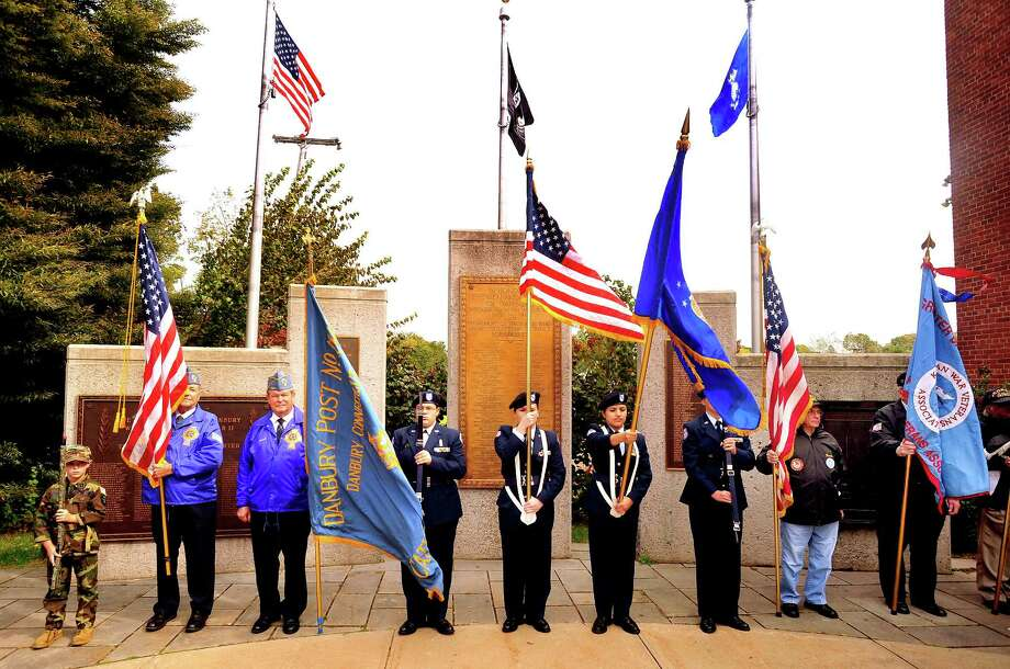 The Walk of Honor ceremony at the Danbury War Memorial Sunday, Oct. 14, 2012. Photo: Michael Duffy